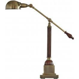Jabrar Brown and Brass Metal Desk Lamp