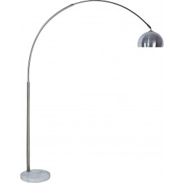 Rene White and Chrome Arch Lamp