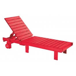 Generations Red Chaise Lounge with wheels