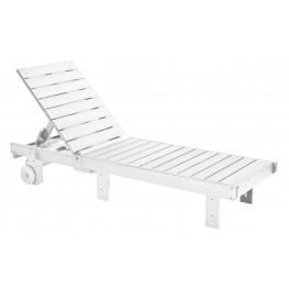 Generations White Chaise Lounge with wheels