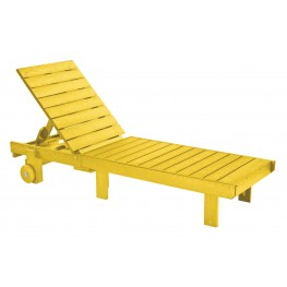 Generations Yellow Chaise Lounge with wheels