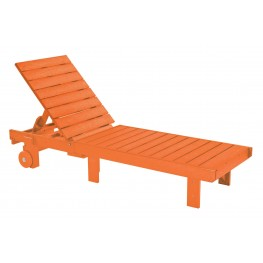 Generations Orange Chaise Lounge with wheels