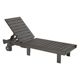 Generations Slate Chaise Lounge with wheels