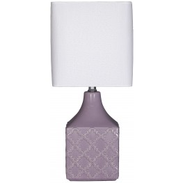 Simmone Purple Ceramic Table Lamp