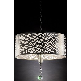 "Mya 11"" Translucent and Black Ceiling Lamp"