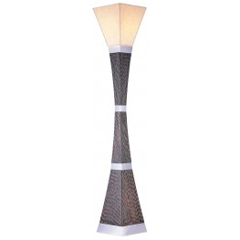 Pandora Dark Wood Torchiere Lamp