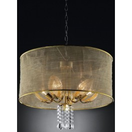 Gladys Shear Hanging Crystal Ceiling Lamp