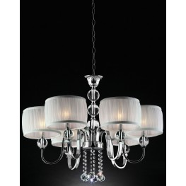 Chloe White Hanging Crystal Ceiling Lamp