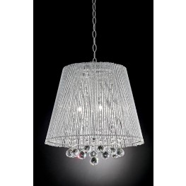 Nora Chrome Ceiling Lamp