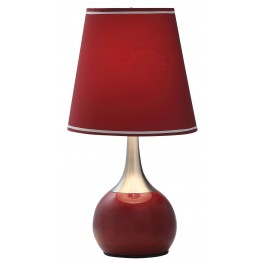 Burgundy Touch Lamp