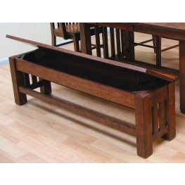 "Laurelhurst 60"" Mission Oak Storage Bench"