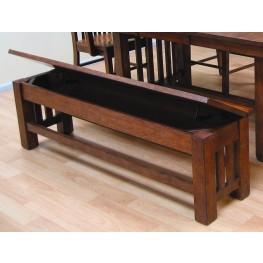 """Laurelhurst 60"""" Mission Oak Storage Bench"""
