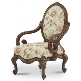 Lavelle Melange Floral Oval Back Wood Chair