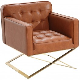 Chilton Brown and Gold Modern Chair