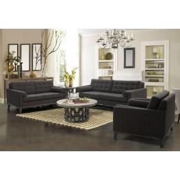 Centennial Charcoal Chenille Fabric Living Room Set