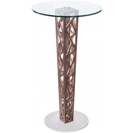 Crystal Tempered Glass Top Bar Table