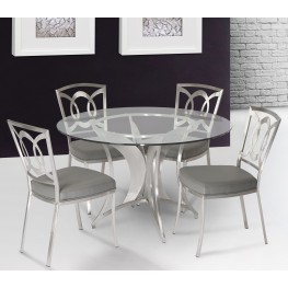 Drake Clear Glass Dining Room Set