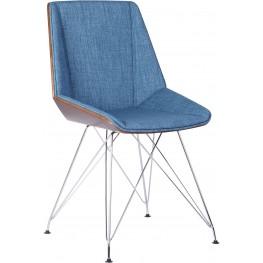Pandora Blue Fabric Chair