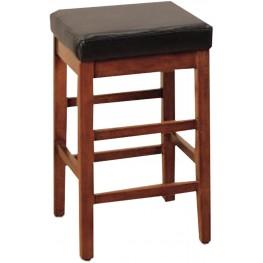 "Sonata 30"" Brown Bonded Leather Stationary Barstool"