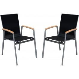 Westport Outdoor Gray Patio Dining Chair Set of 2