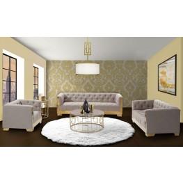 Zinc Shiny Gold Occasional Table Set