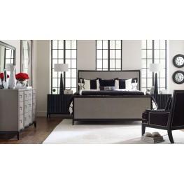 Symphony Platinum & Black Tie Panel Bedroom Set