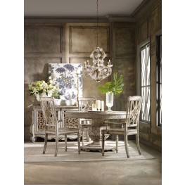 Chatelet Cream Round Extendable Dining Room Set