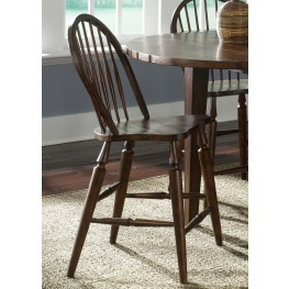 Cabin Fever Windsor Back Barstool Set of 2