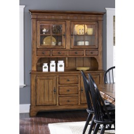 Treasures Oak Buffet With Hutch