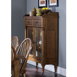 Treasures Oak Display Cabinet
