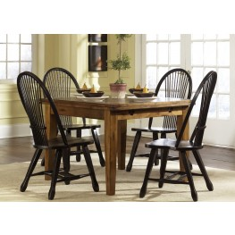 Treasures Oak Retractable Dining Room Set