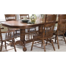 Old World Double Pedestal Table - Liberty Furniture