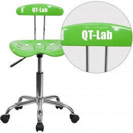 32140 Personalized Vibrant Apple Green and Chrome Tractor Seat Task Chair