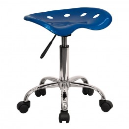 Vibrant Bright Blue Tractor Seat Stool