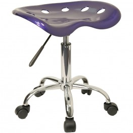 Vibrant Deep Blue Tractor Seat Stool