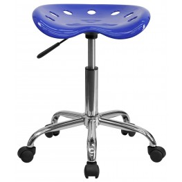 Vibrant Nautical Blue Tractor Seat Stool