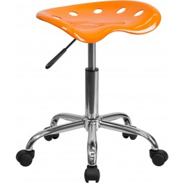 Vibrant Orange Tractor Seat Stool (Min Order Qty Required)