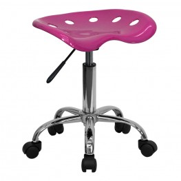 Vibrant Pink Tractor Seat Stool