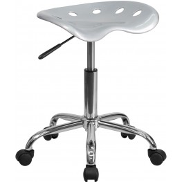 Vibrant Silver Tractor Seat Stool (Min Order Qty Required)