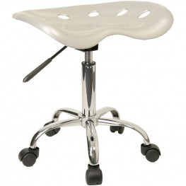 Vibrant Silver Tractor Seat Stool