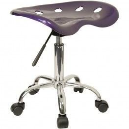 Vibrant Violet Tractor Seat Stool