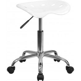 Vibrant White Tractor Seat Stool (Min Order Qty Required)