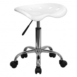 Vibrant White Tractor Seat Stool