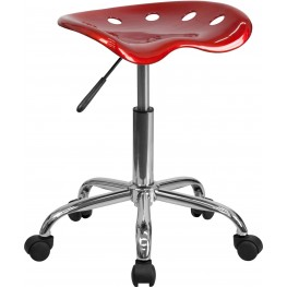 Vibrant Wine Red Tractor Seat Stool (Min Order Qty Required)