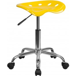 Vibrant Orange-Yellow Tractor Seat Stool (Min Order Qty Required)