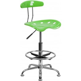 Vibrant Apple Green And Chrome Tractor Seat Drafting Stool (Min Order Qty Required)