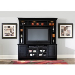 540 Rubbed Black Entertainment Center