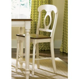 Low Country Sand Napoleon Back Barstool Set of 2
