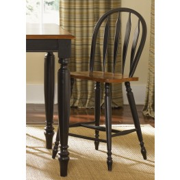 Low Country Black Windsor Back Barstool Set of 2
