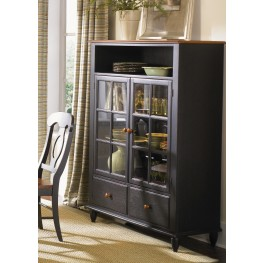 Low Country Black Curio Cabinet